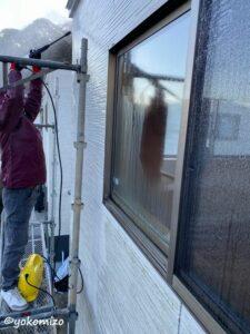 外壁 洗浄中 有限会社横溝工務店