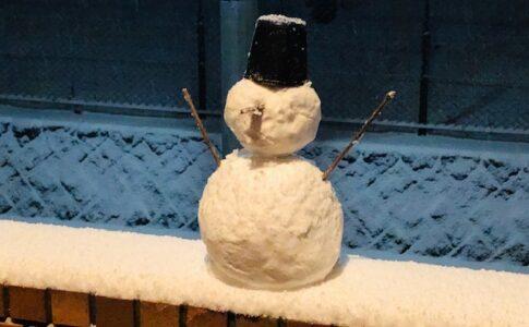 積雪 有限会社横溝工務店 雪だるま